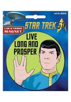 Star Trek Spock Car Magnet