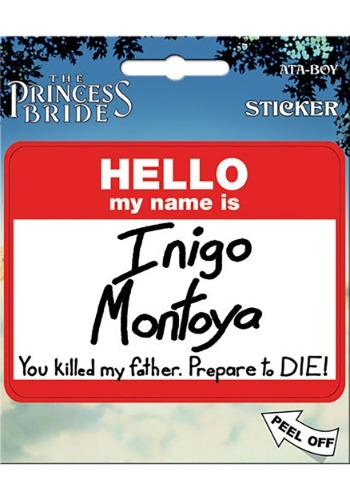 The Princess Bride Hello My Name is Inigo Sticker