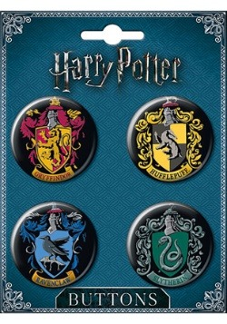 Harry Potter House Crest 4-Button Set