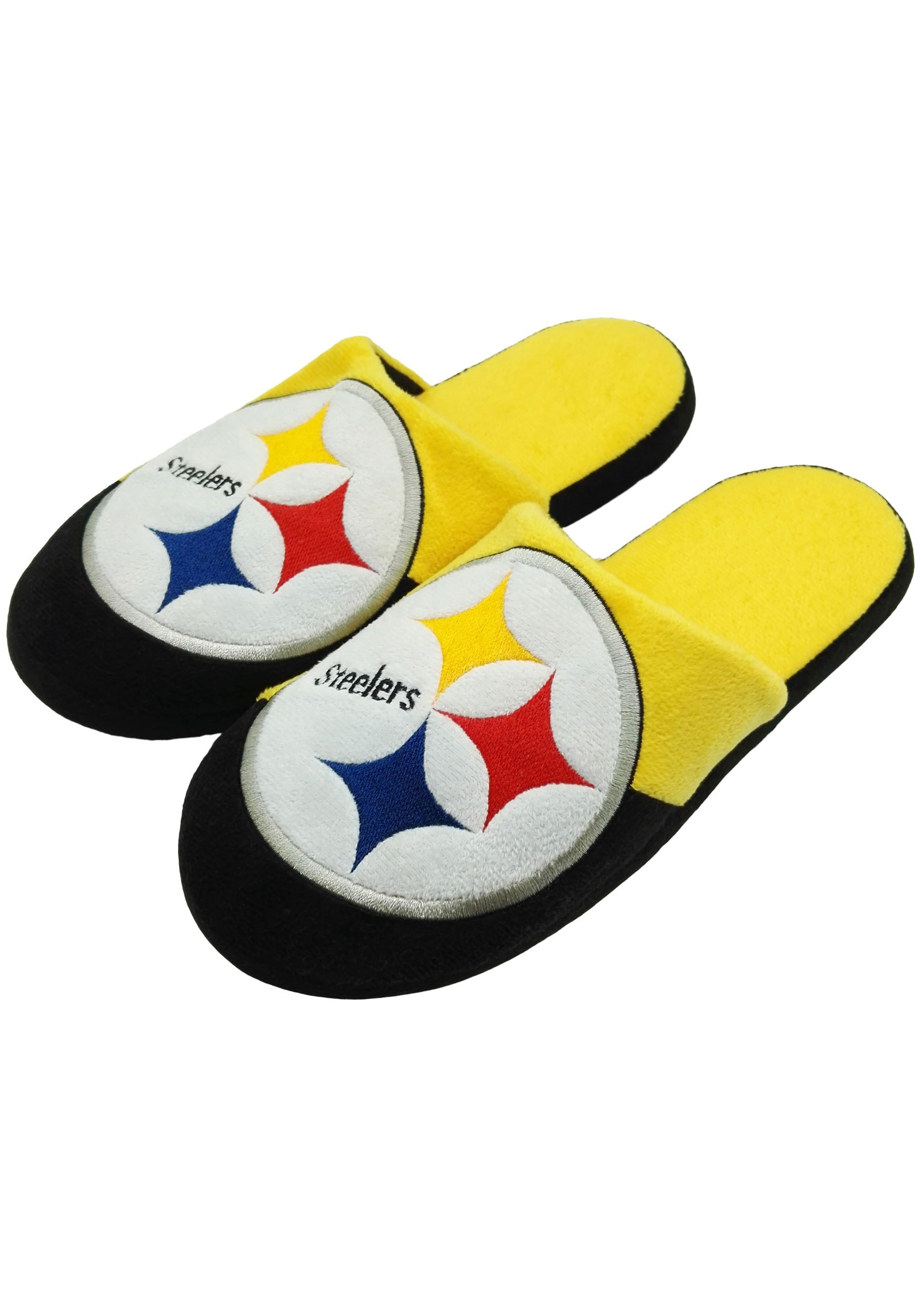 959245dc784 Pittsburgh Steelers Colorblock Slide Slippers