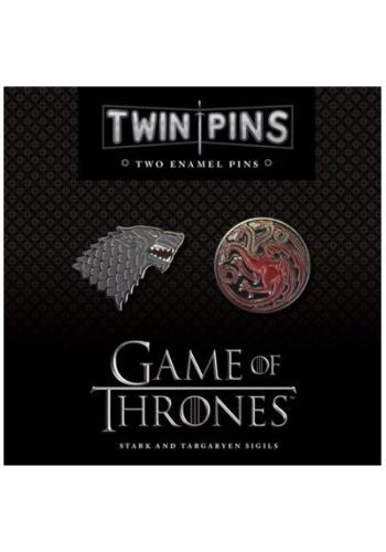 Game of Thrones Stark & Targaryen Twin Enamel Pin Set