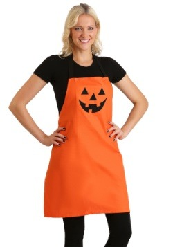 Orange Jack O'Lantern Embroidered Apron Update Main