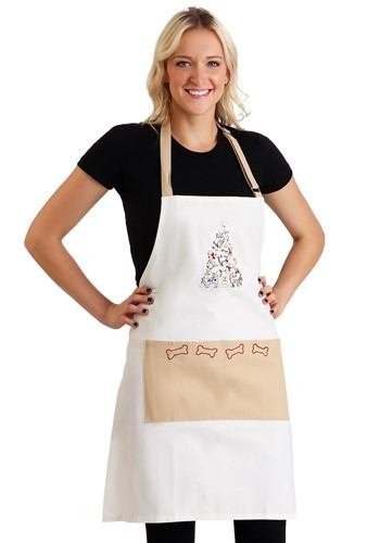 Puppy Christmas Tree Embroidered Apron Update Main