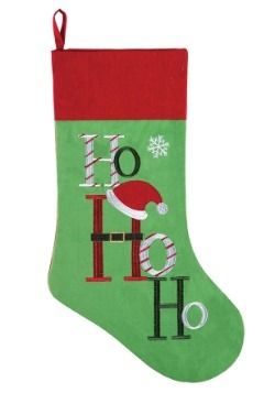Embroidered Ho Ho Ho Christmas Stocking