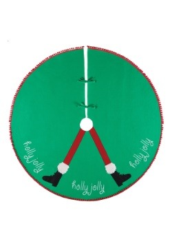 "Holly Jolly 54"" Felt Tree Skirt"