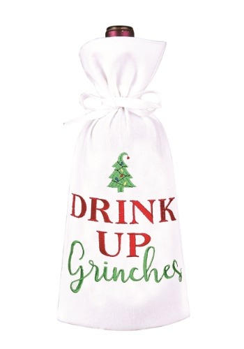 Drink Up Grinches Christmas Wine Bag