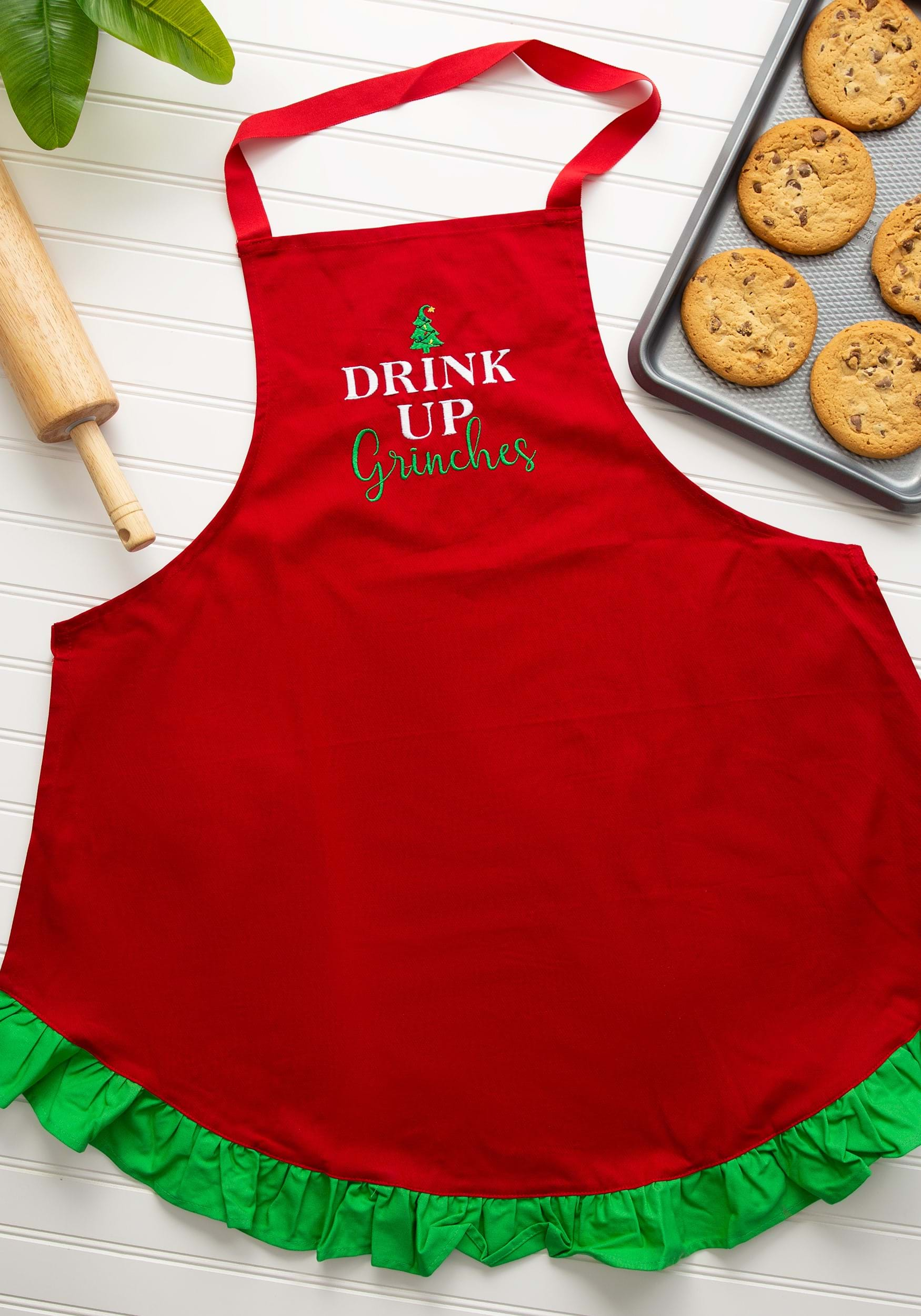 drink up grinches christmas apron - Christmas Apron