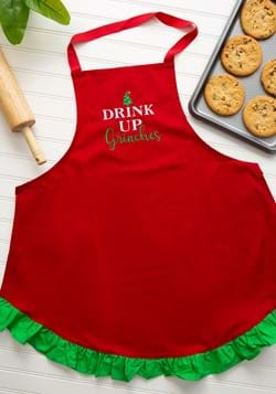 Drink Up Grinches Christmas Apron-1