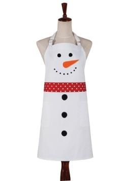 Snowman Christmas White Apron