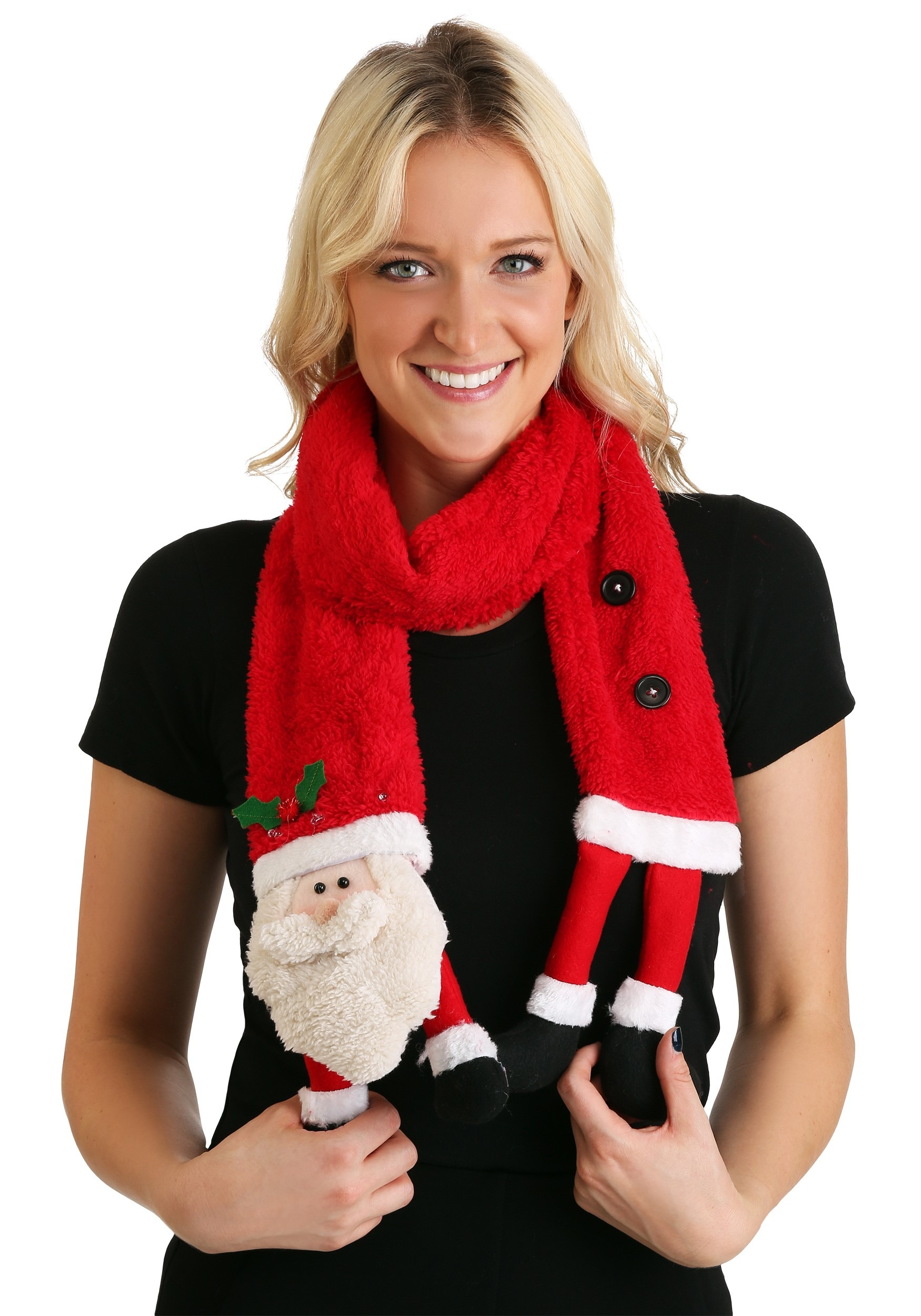 Led Santa Claus Christmas Scarf