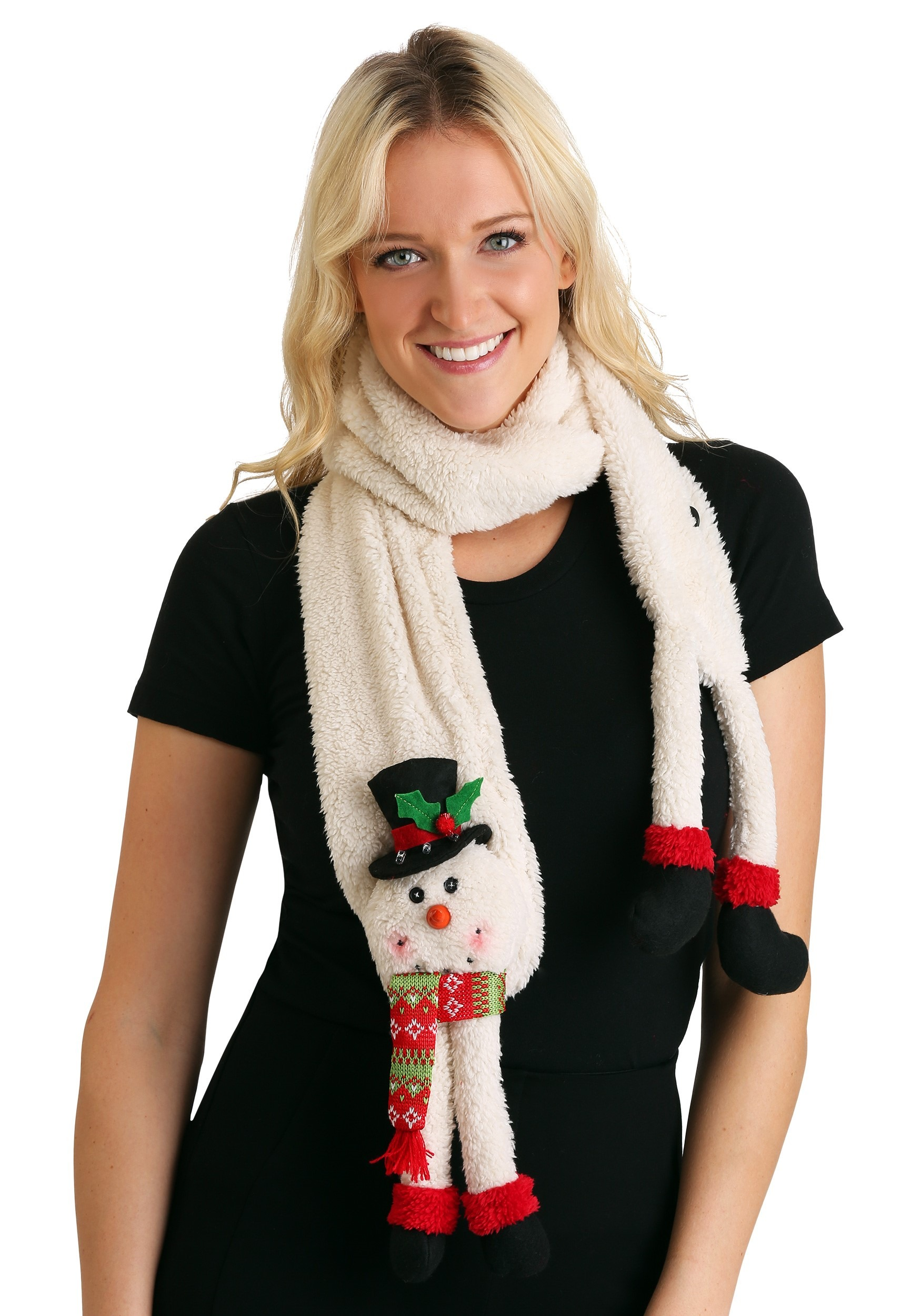 Snowman Scarf With Led Lights