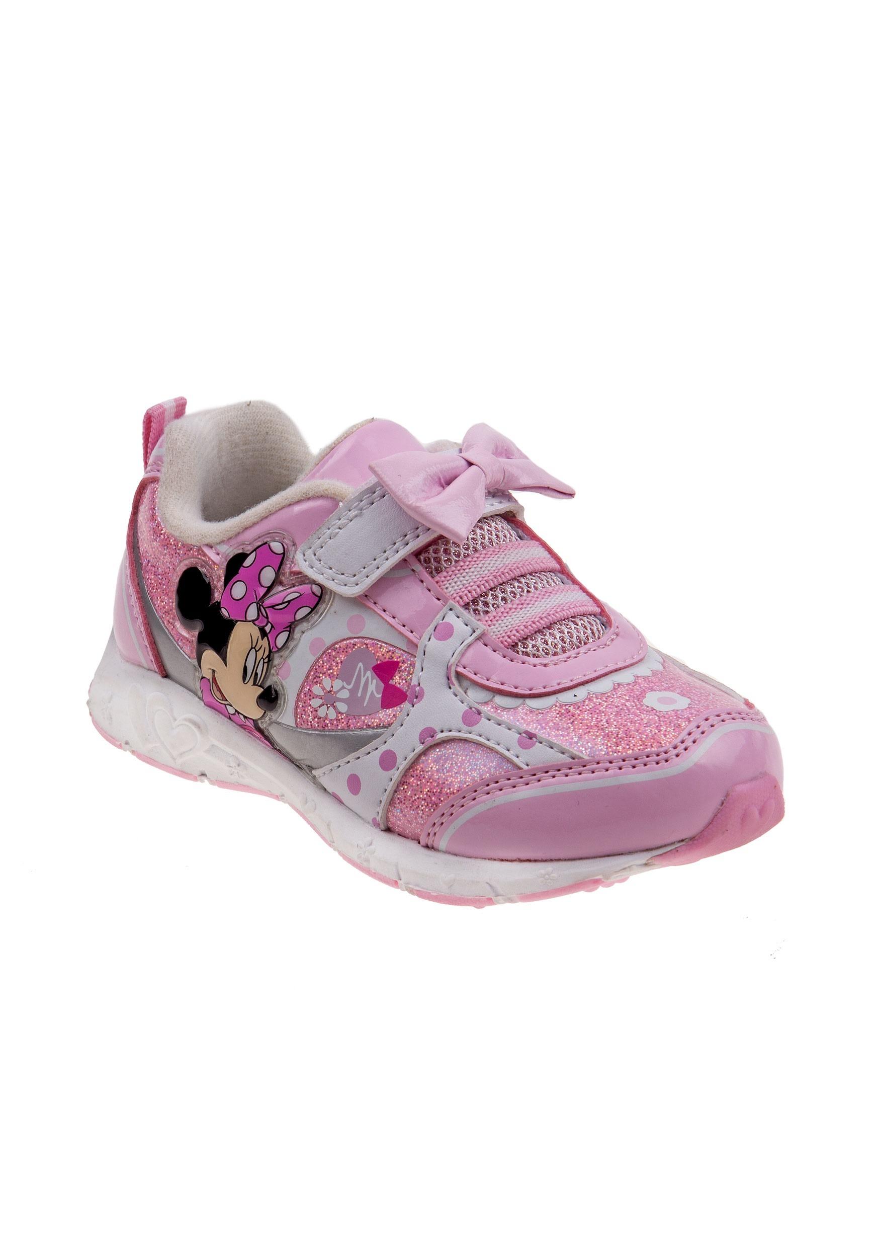 Pink-Glitter Minnie Bowtique Disney Girls Light-up Sneaker Shoe