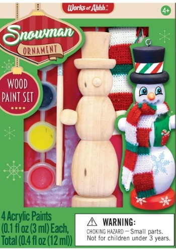 MasterPieces Works of Ahhh Snowman Ornament Paint Kit