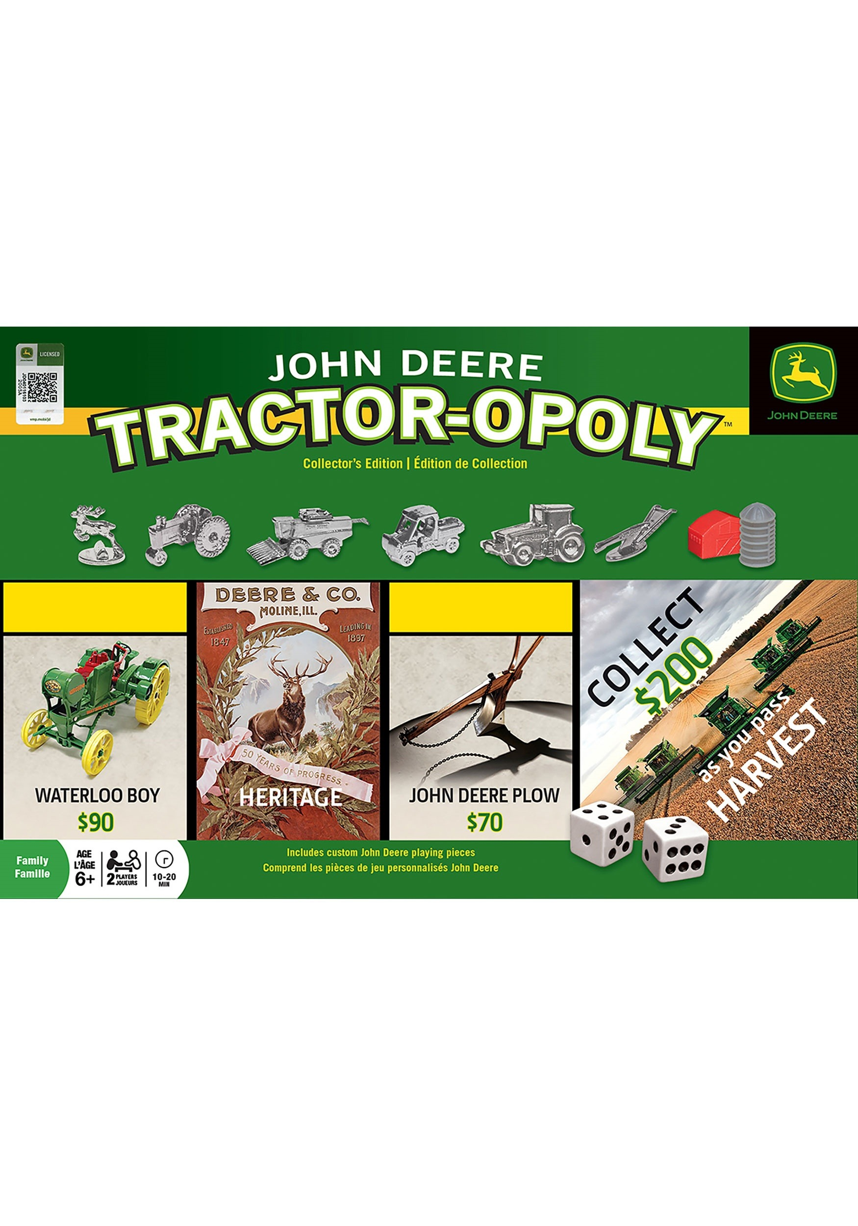 John Deere Tractor-Opoly Board Game