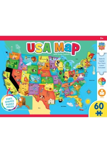 MasterPieces Explorer USA Map 60 Piece Kids Puzzle