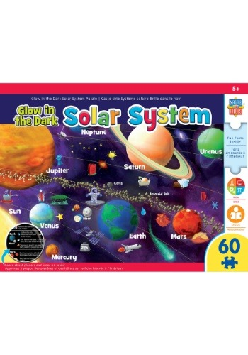 MasterPieces Glow In The-Dark Solar System 60 Piece Puzzle