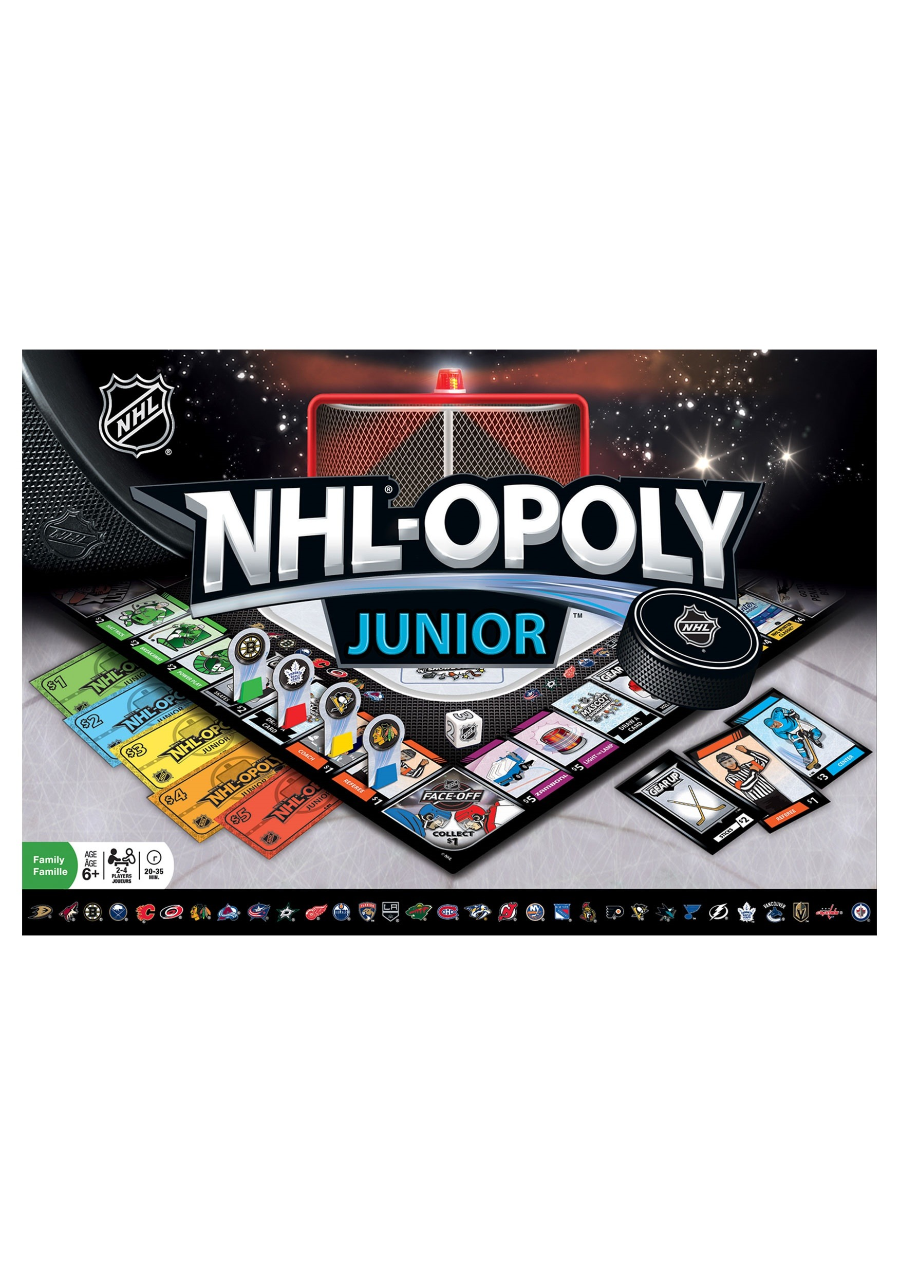 MasterPieces NHL-Opoly Jr Board Game