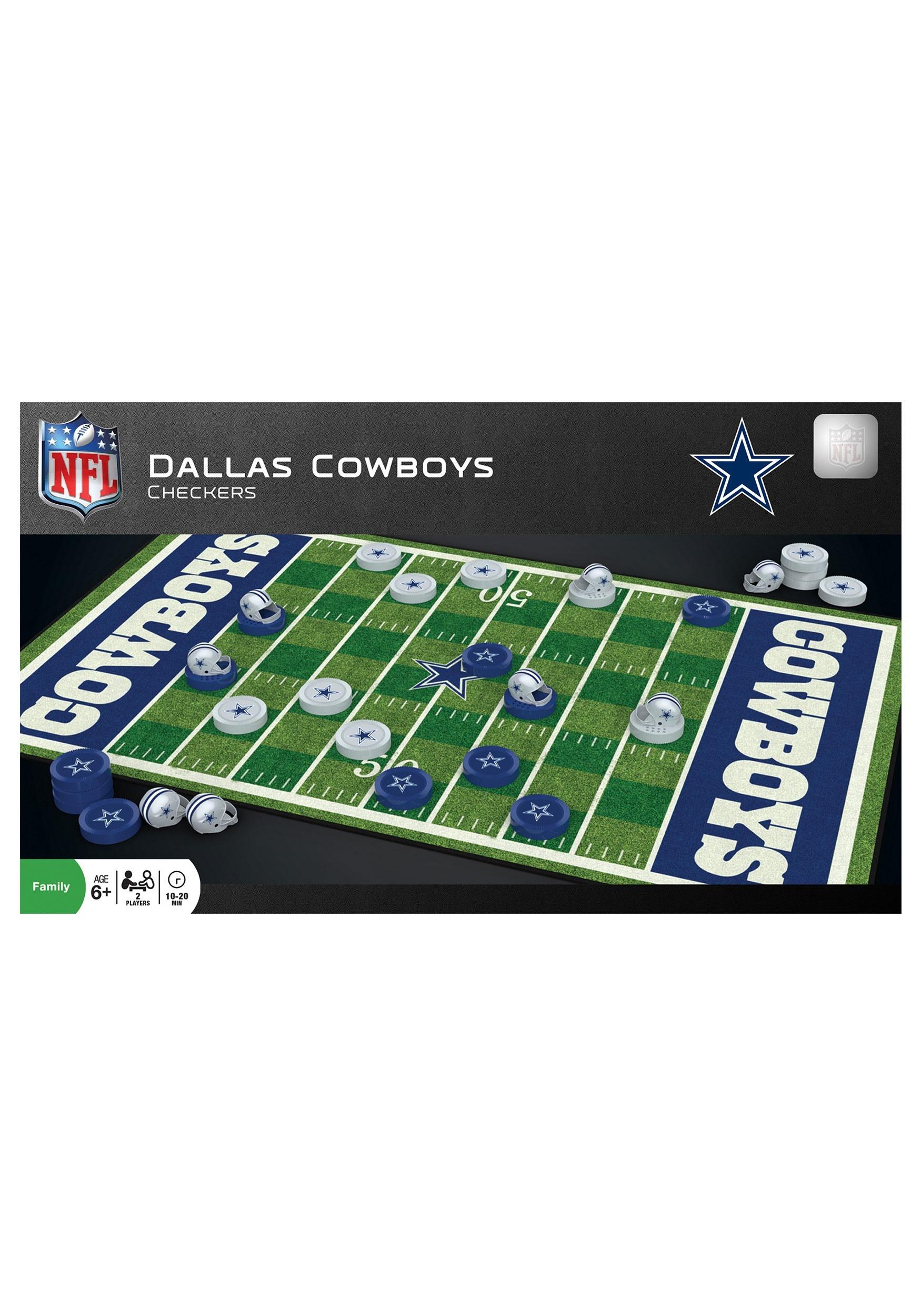 MasterPieces NFL Dallas Cowboys Checkers
