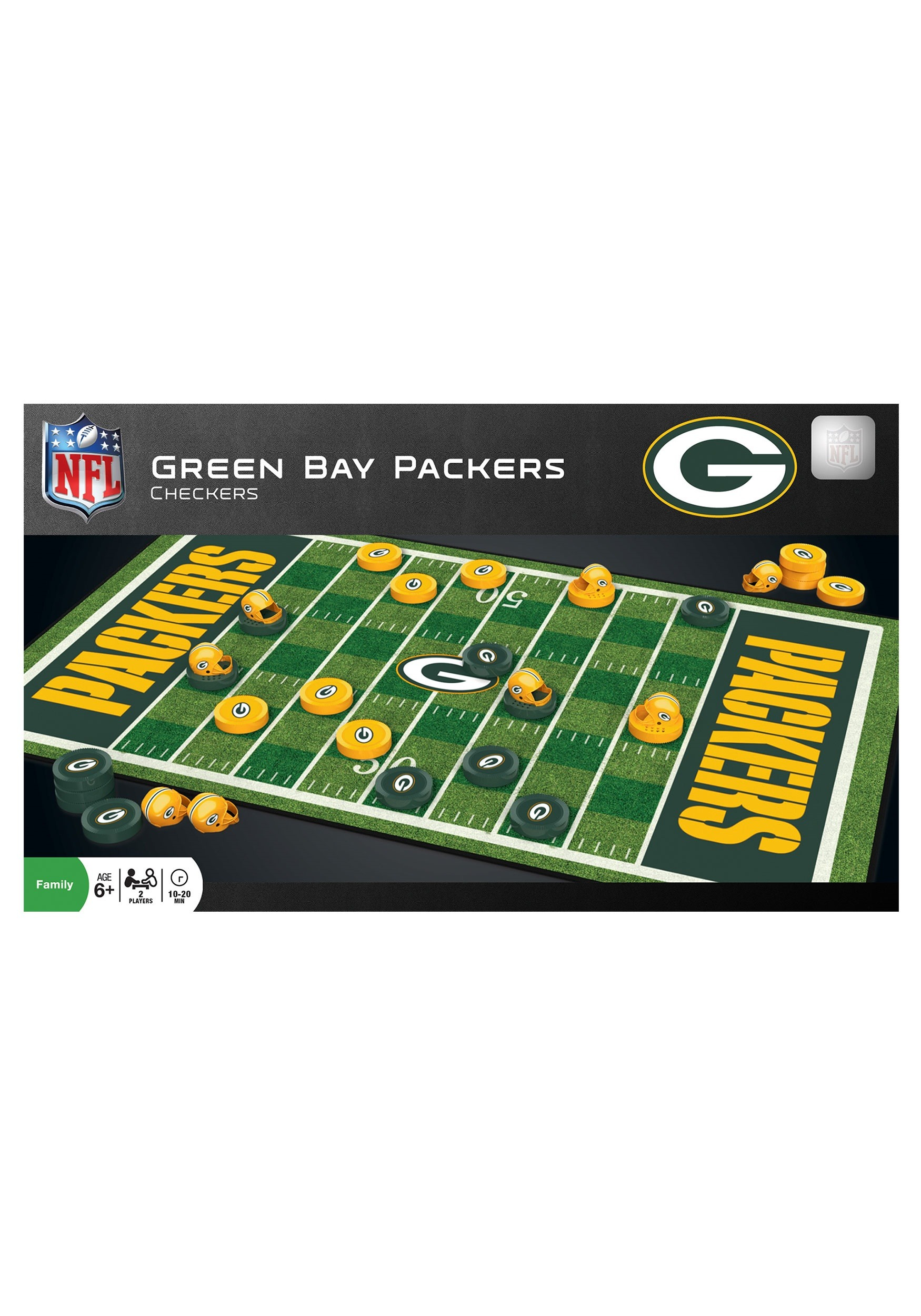 MasterPieces NFL Green Bay Packers Checkers