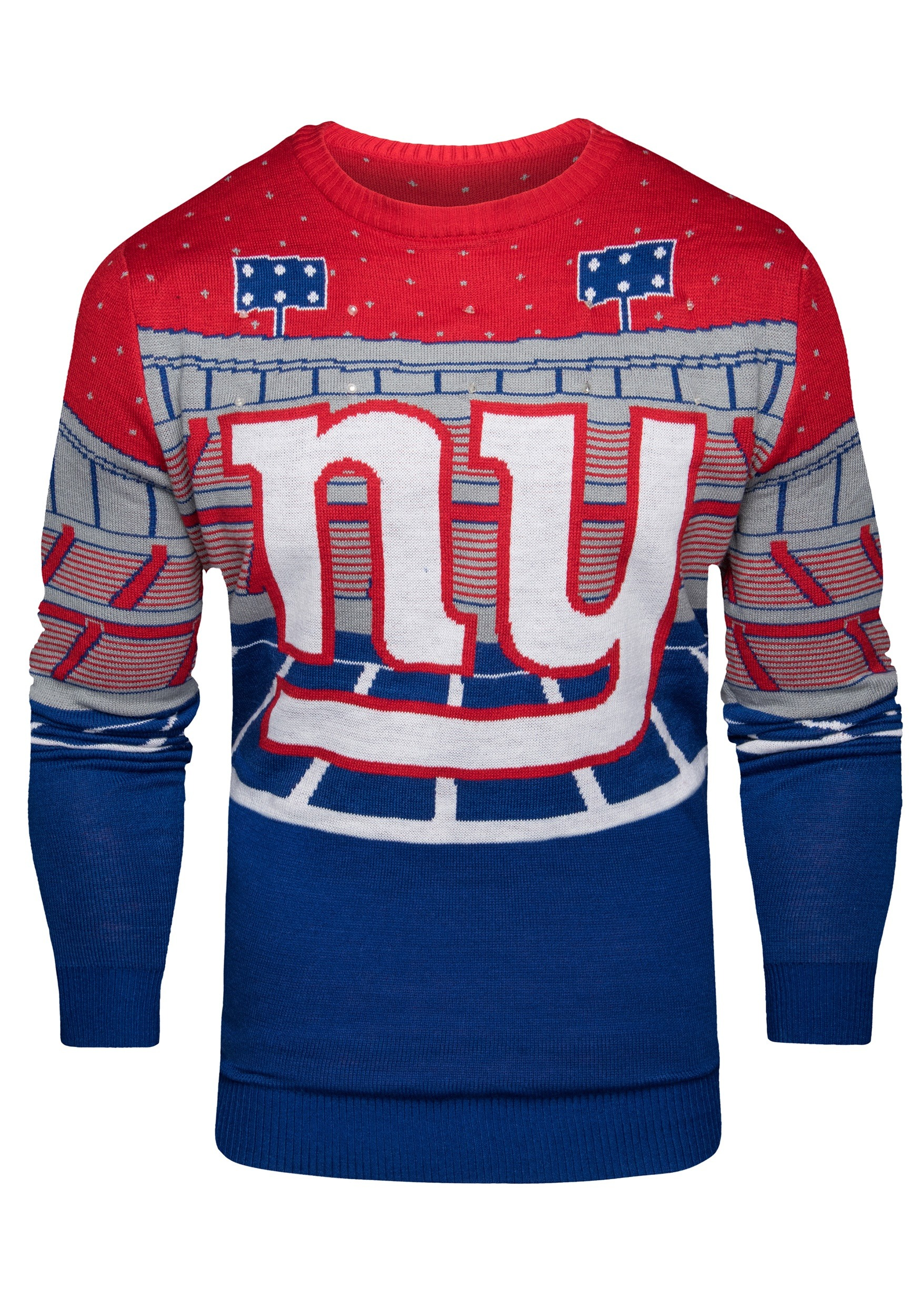 56861d4885c NFL New York Giants Light Up Bluetooth Ugly Christmas Sweater