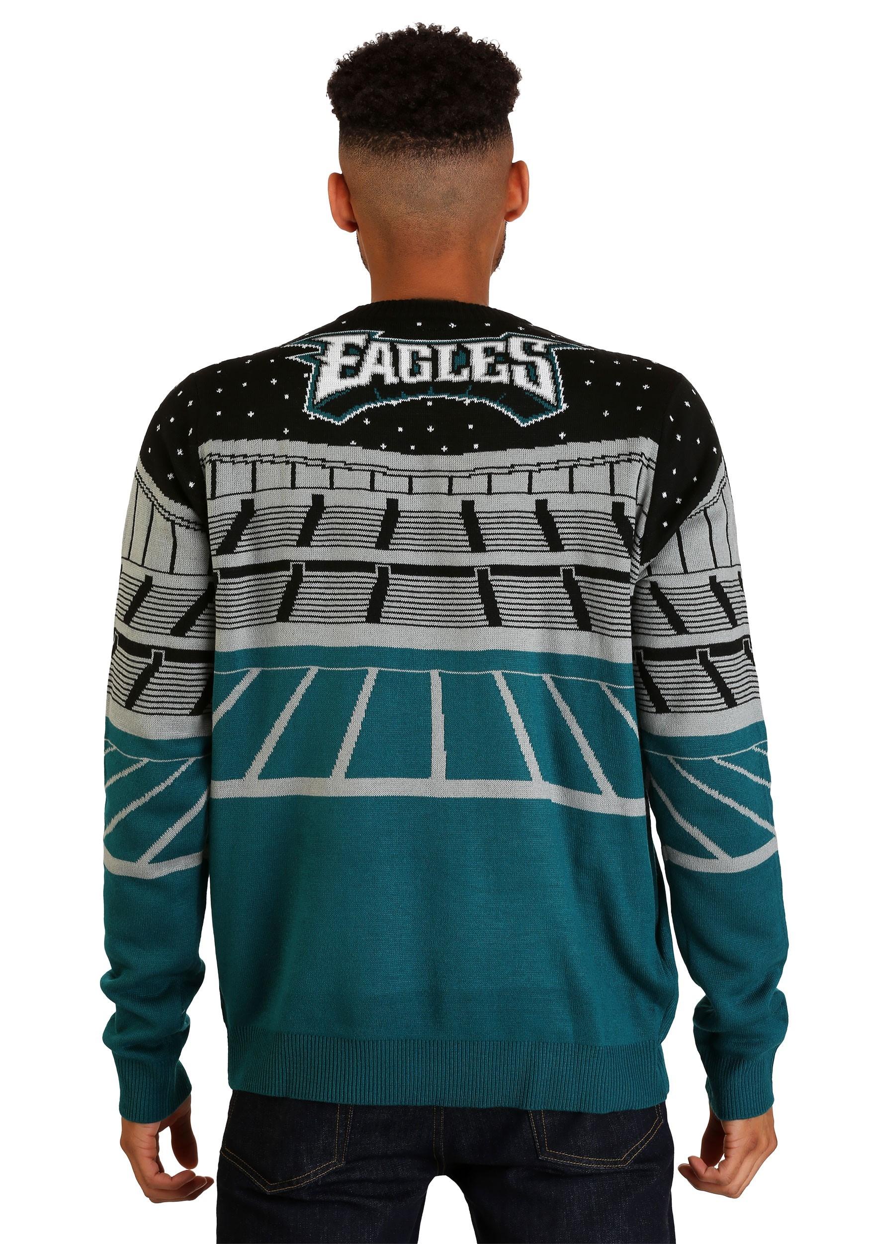 Philadelphia Eagles Light Up Bluetooth Ugly Christmas Sweater