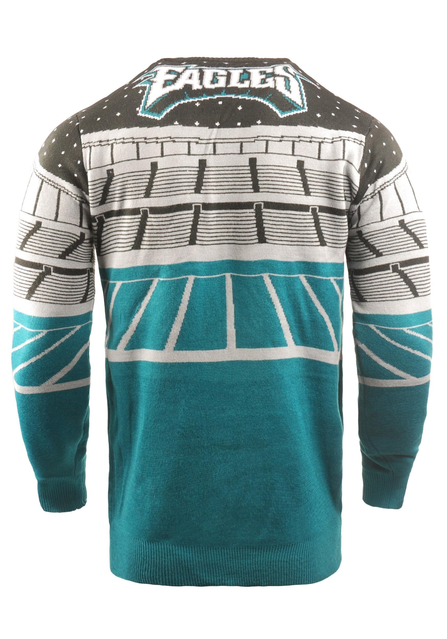 the latest cc8e8 1d68f Philadelphia Eagles Light Up Bluetooth Christmas Sweater