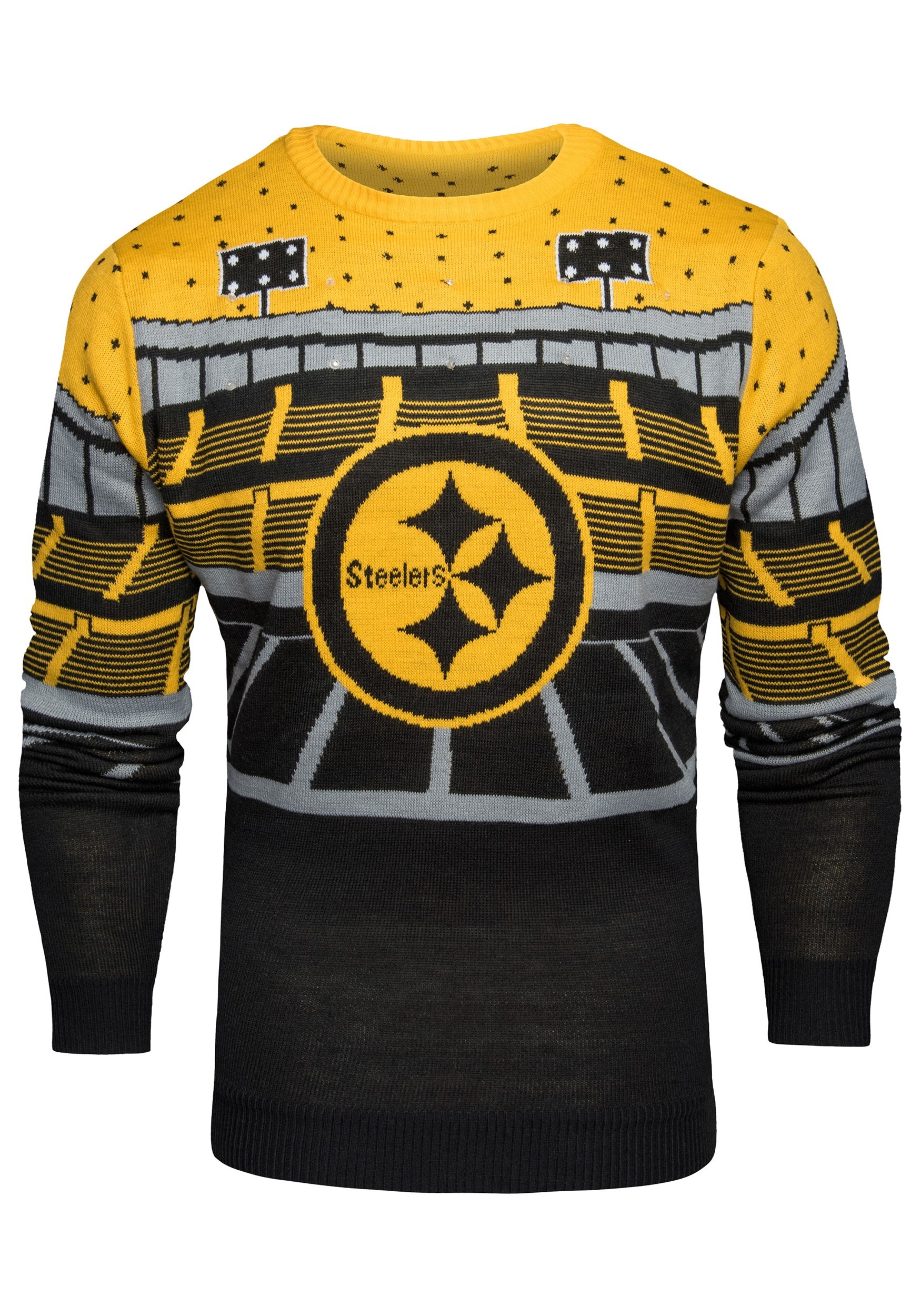huge discount 979e4 dbe6c Pittsburgh Steelers Light Up Bluetooth Christmas Sweater