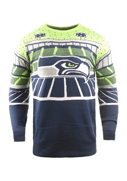 Seattle Seahawks Light Up Bluetooth Ugly Christmas Sweater A