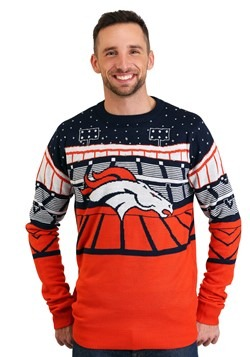 Denver Broncos Light Up Bluetooth Ugly Christmas Sweater Upd