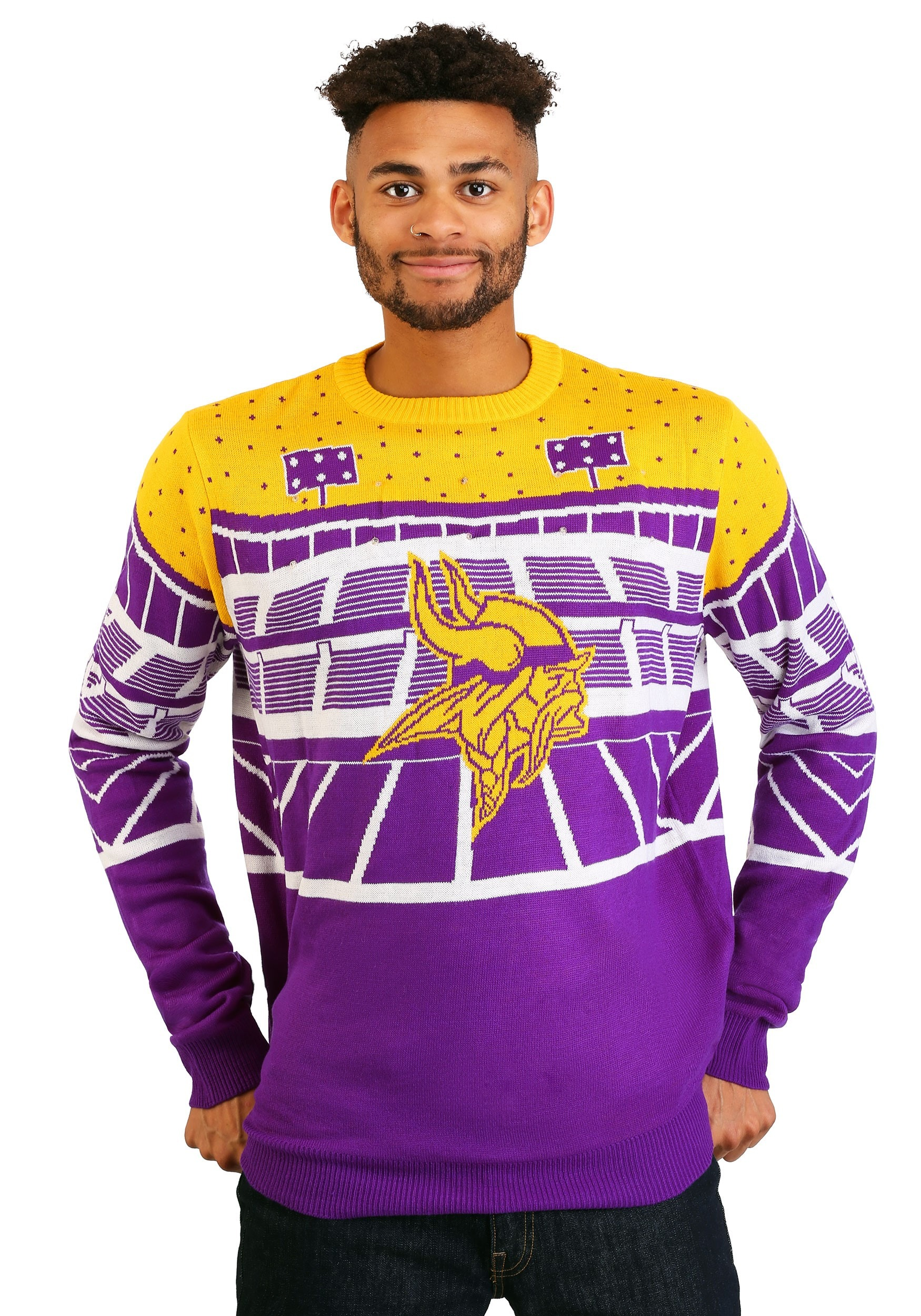 Minnesota Vikings Bluetooth Light Up Ugly Christmas Sweater