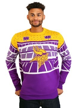 c25439b3c1d Minnesota Vikings Light Up Bluetooth Ugly Christmas Sweater