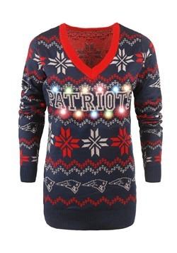 New England Patriots Women's Light Up Ugly Christmas Alt2