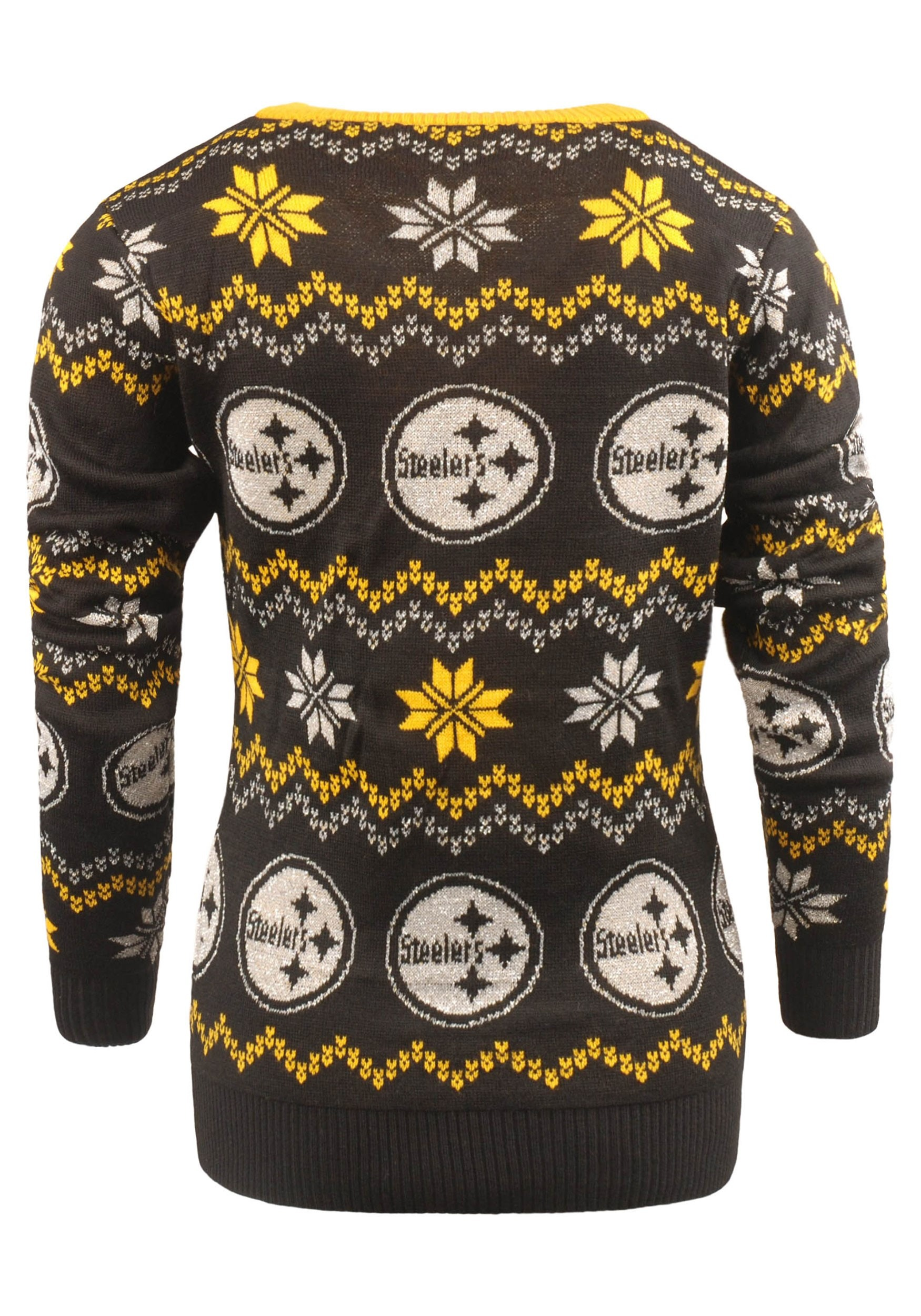 NFL Pittsburgh Steelers Light Up V-Neck Bluetooth Ugly Sweater for Women 461282823