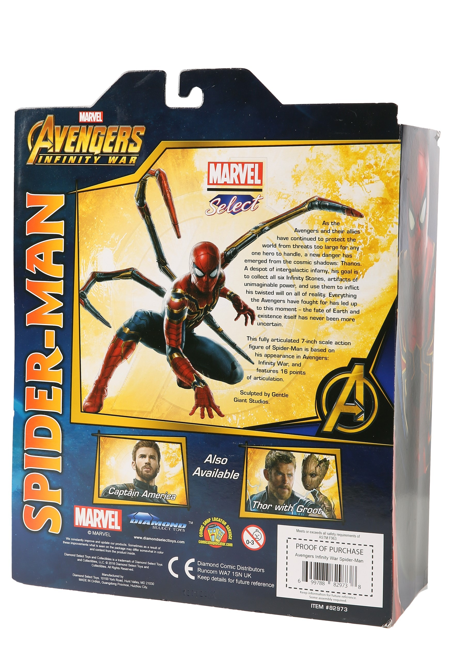 Iron Spider Avengers Infinity War Marvel Select Action Figure 18 cm