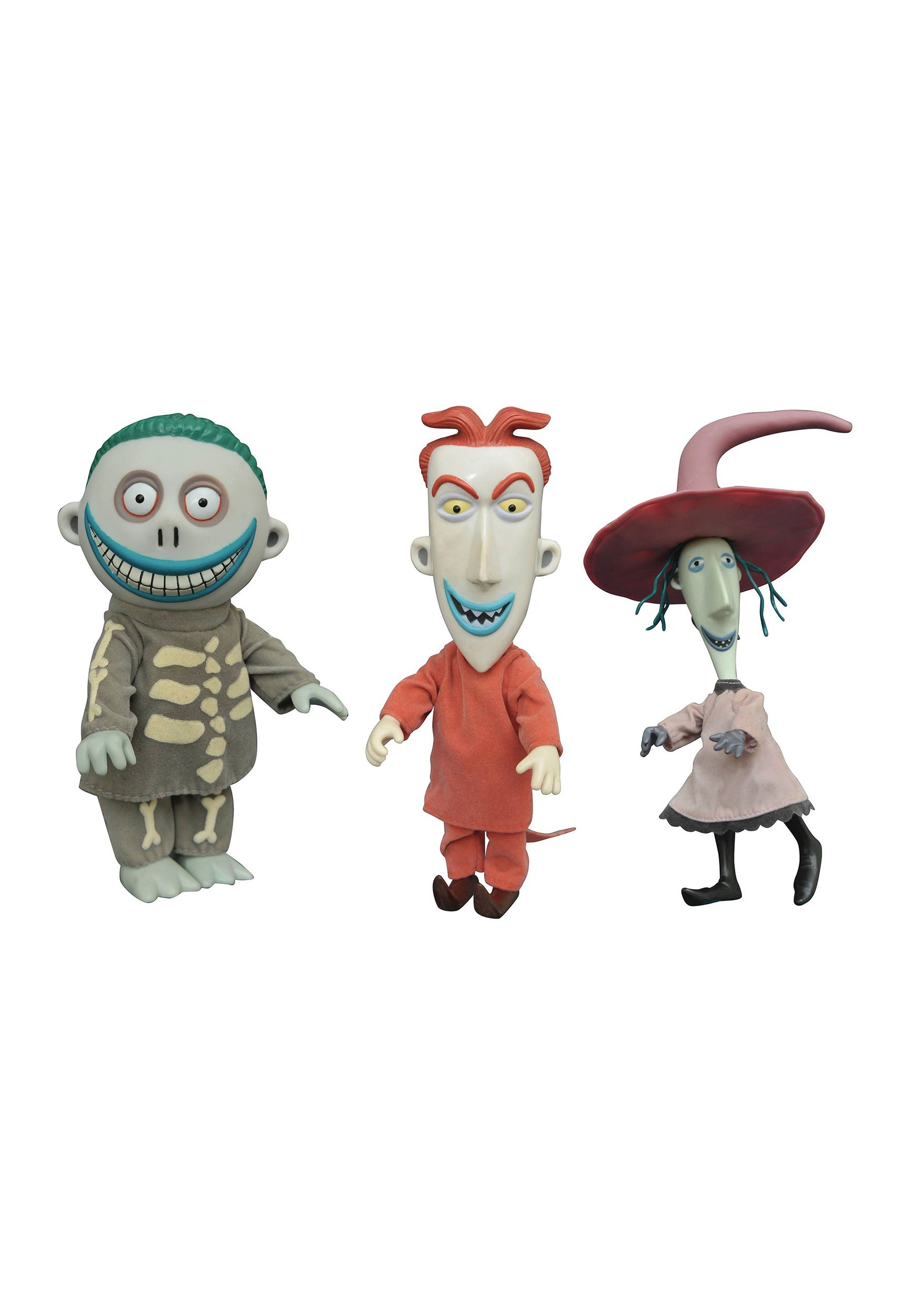Nightmare Before Christmas Lock Shock And Barrel Doll Set