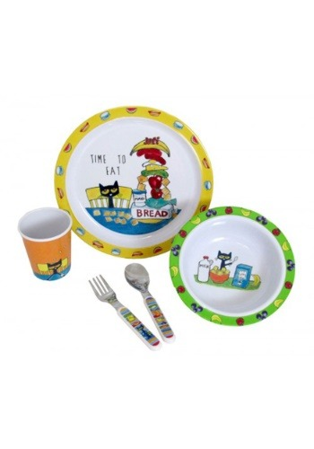 Pete the Cat 5 Piece Melamine Set