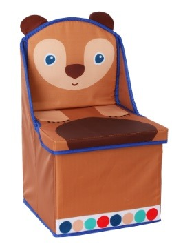 The World of Eric Carle Brown Bear Storage Chair