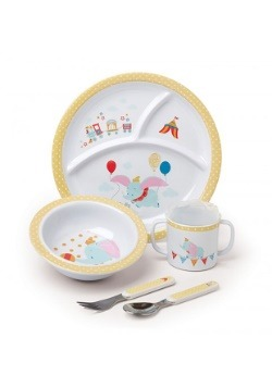 Disney Dumbo 5 Piece Melamine Meal Set