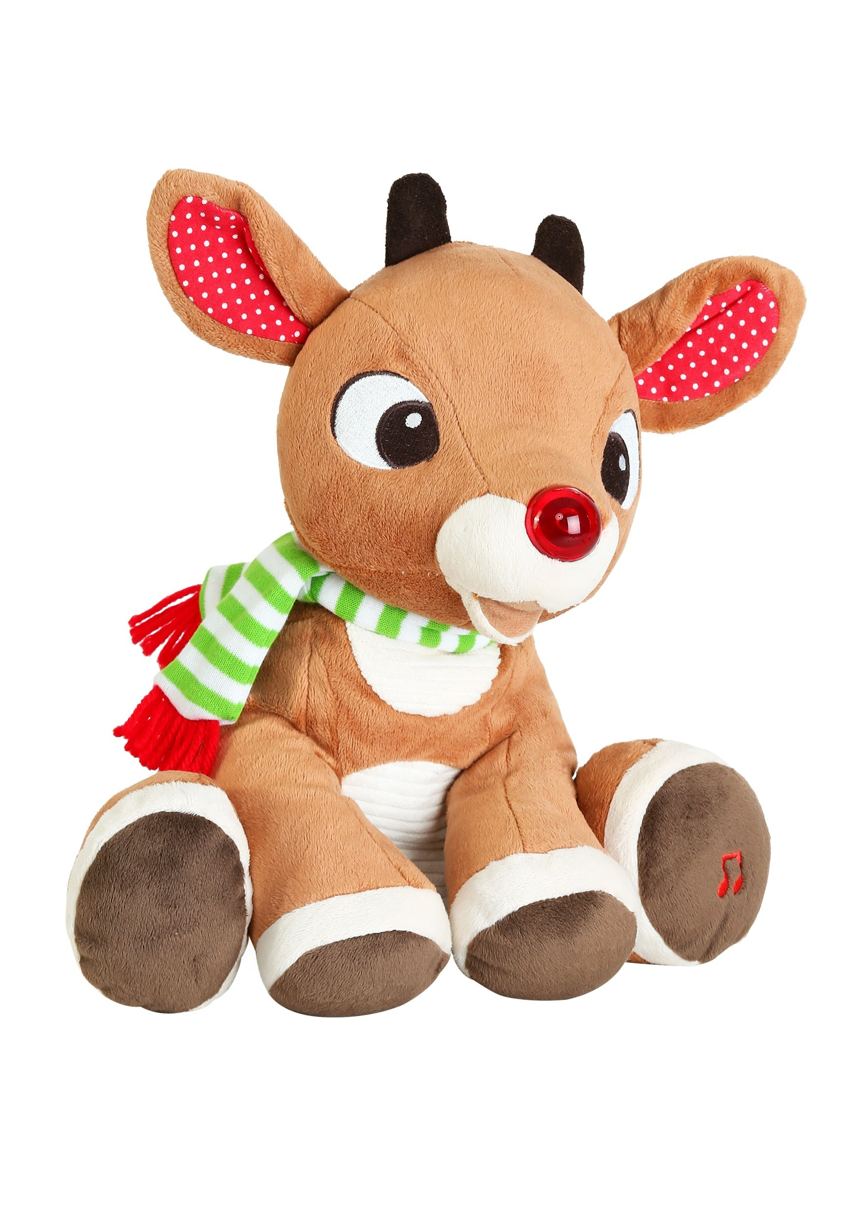 36894d5ac648c Rudolph the Red Nosed Reindeer Plush with Music and Lights