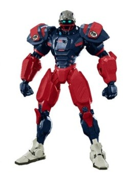 "NFL New England Patriots Fox 10"" Robot Action Figure"