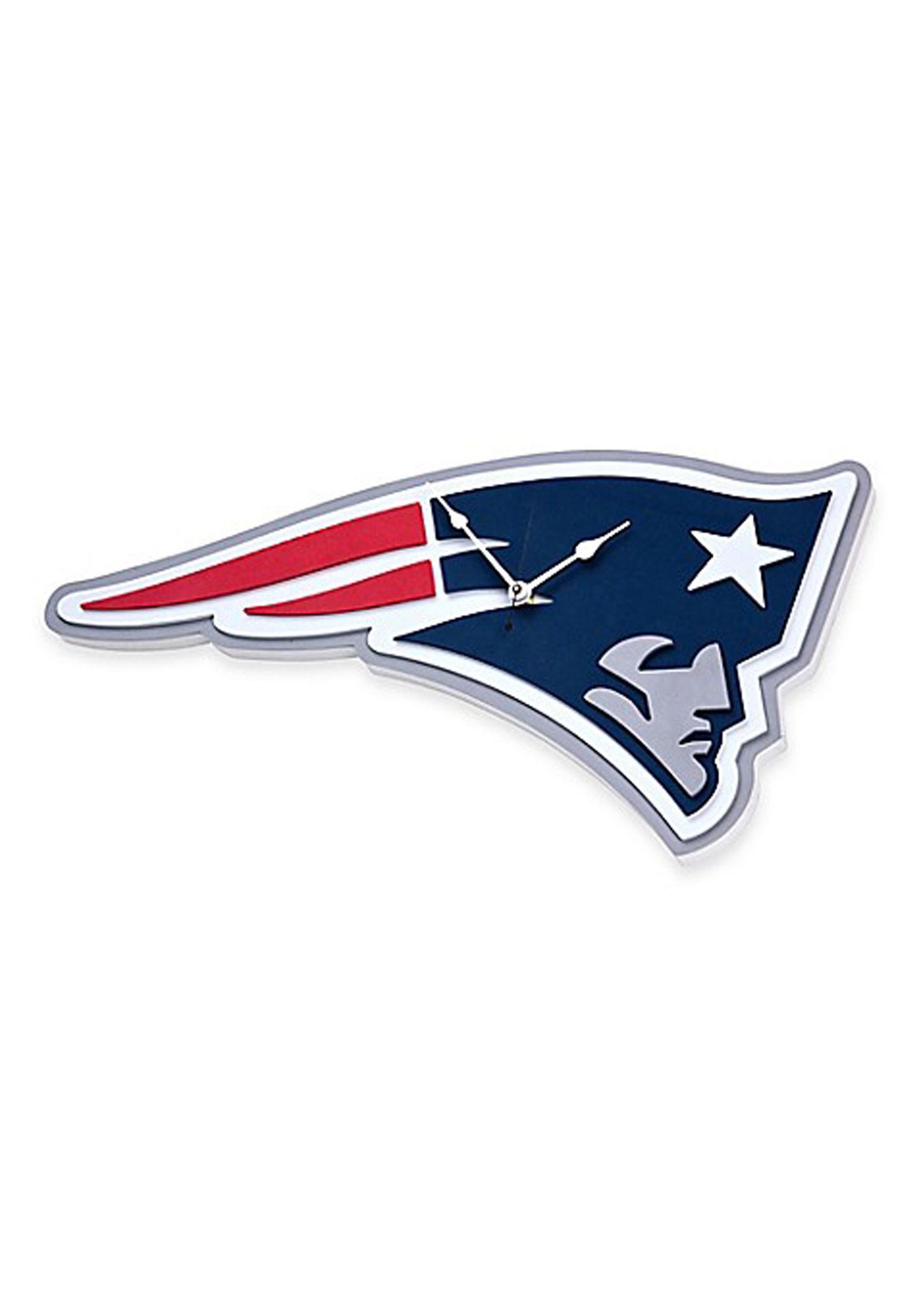 NFL New England Patriots Logo Foam Clock