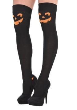 Pumpkin Over the Knee Socks for Women