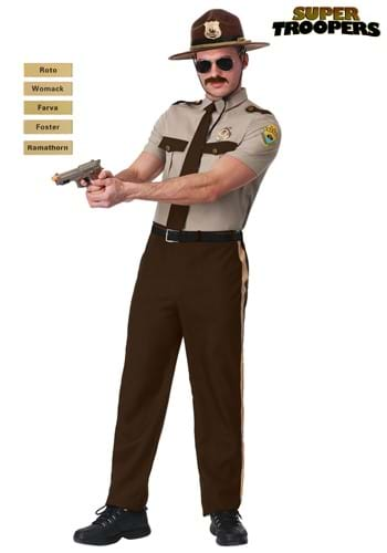 Plus Size Adult Super Troopers State Trooper Costume