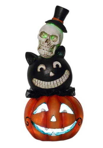 Resin LED Halloween Stack Heads Décor