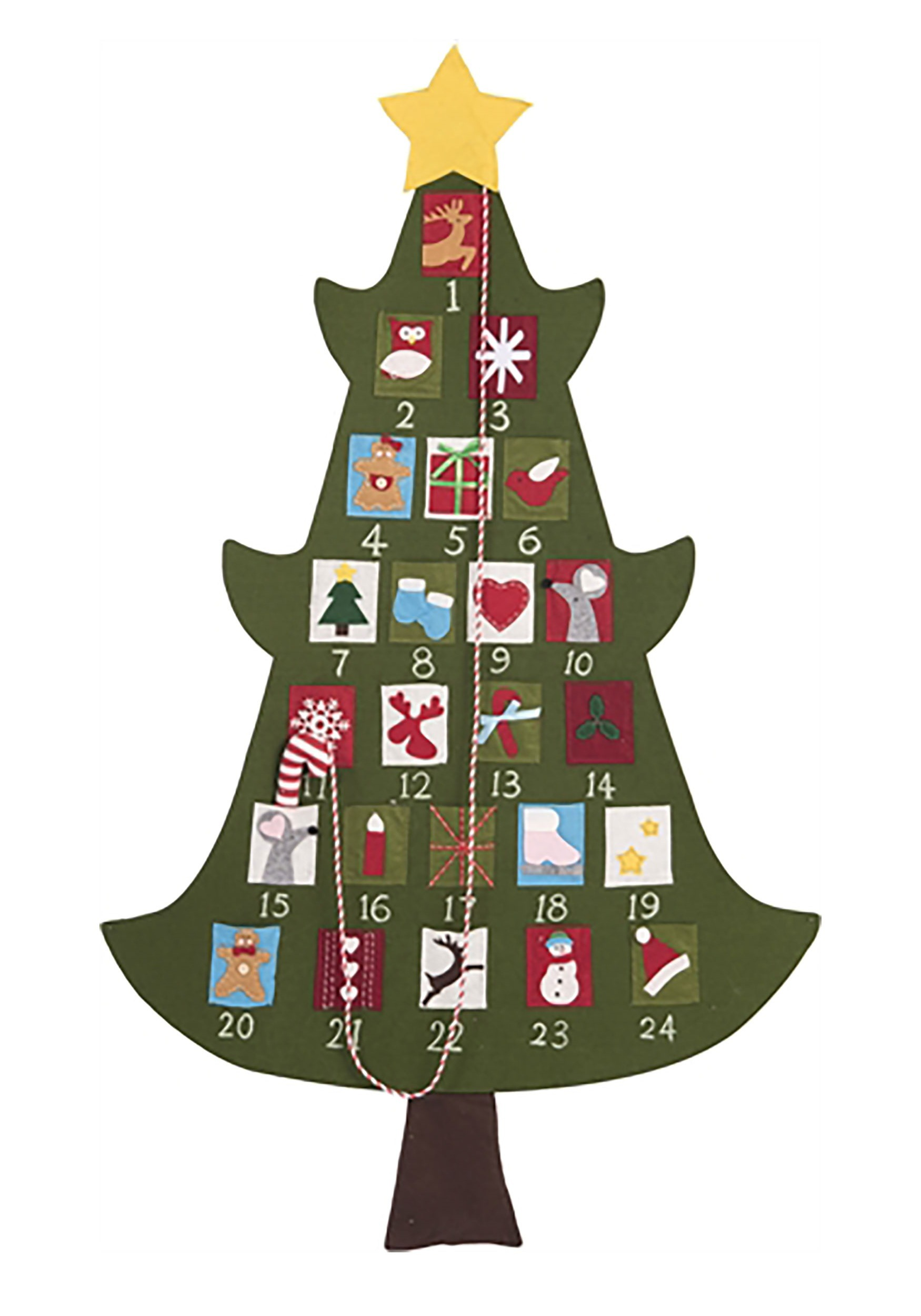 Felt 52 Advent Christmas Tree Calendar