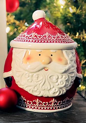 Nordic Pattern Santa Cookie Jar upd