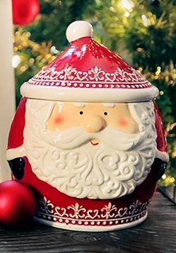 Nordic Pattern Santa Cookie Jar upd