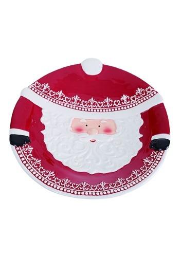 Ceramic Nordic Pattern Santa Platter
