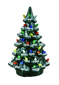 11 75 Ceramic Light Up Nostalgic Tree