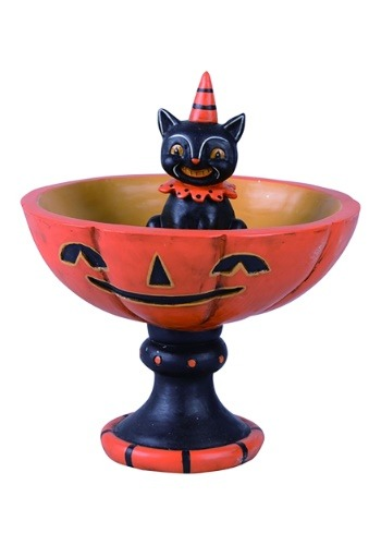 Resin Black Cat Treat Stand
